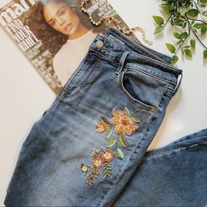 FLORAL PATCHED JEANS!